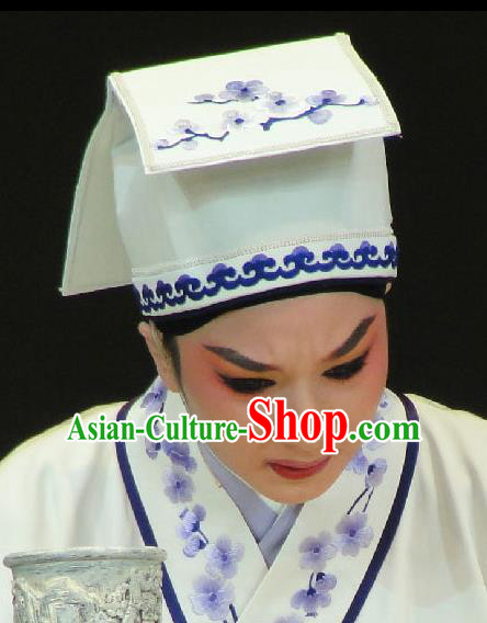 Traditional Chinese Beijing Opera Lang Scholar Embroidered Hats Peking Opera Niche Headwear
