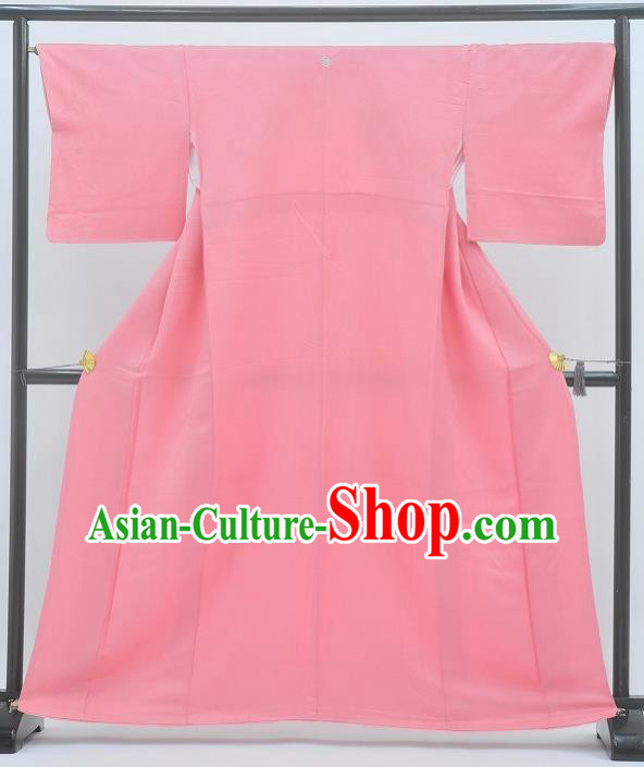 Japan Traditional Costume Pink Yukata Dress Japanese Furisode Kimono for Women