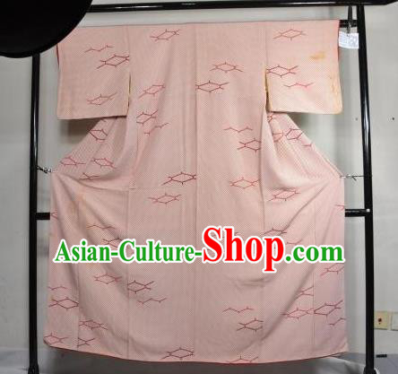 Japan Traditional Kimonos Costume Pink Yukata Dress Japanese Furisode Kimono for Women