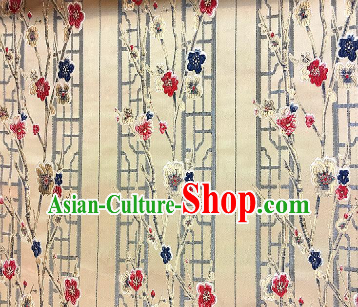 Chinese Traditional Fabric Tang Suit Plum Blossom Pattern Brocade Chinese Fabric Asian Cheongsam Material