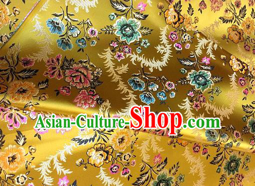Chinese Traditional Fabric Tang Suit Golden Brocade Chinese Fabric Asian Cheongsam Material