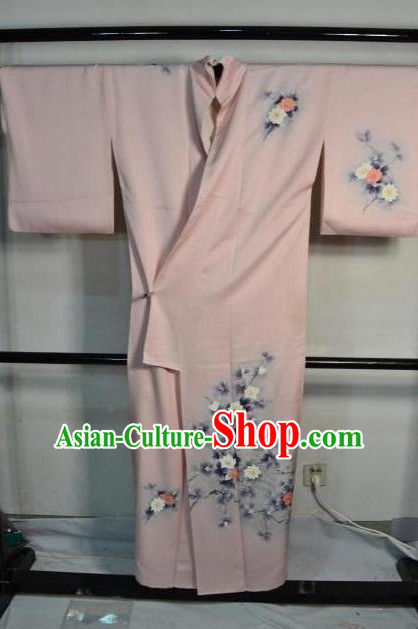 Japan Traditional Kimonos Costume Asian Japanese Printing Flowers Yukata Dress Furisode Kimono for Women
