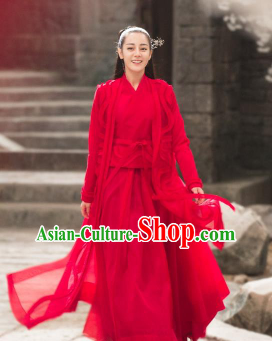 Chinese Ancient Female Knight-Errant Costume Theatre Performances Swordswoman Hanfu Clothing for Women