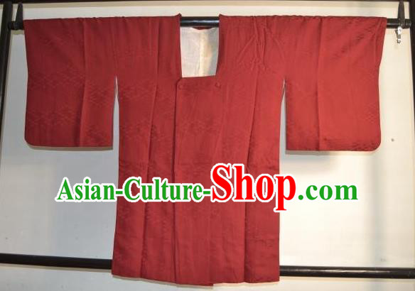 Japanese Traditional Hakama Kimono Japan Red Haori Shirts Apparel Yukata Costume for Men