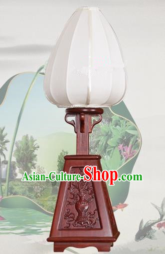 Handmade Traditional Chinese Lantern Desk Lamp White Silk Lanern New Year Lantern