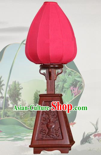 Handmade Traditional Chinese Lantern Desk Lamp Red Silk Lanern New Year Lantern