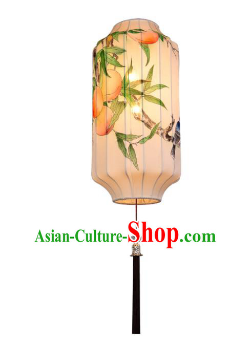 Handmade Traditional Chinese Lantern Ceiling Lanterns Hand Painting Peach Lanern New Year Lantern