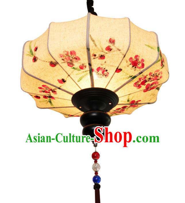 Handmade Traditional Chinese Lantern Ceiling Lanterns Hand Painting Linen Lanern New Year Lantern