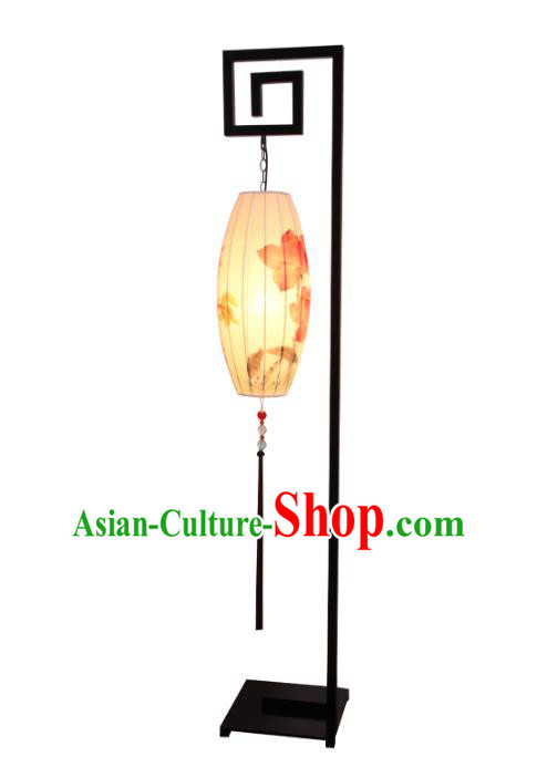 Handmade Traditional Chinese Lantern Floor Lamp Hand Painting Lantern