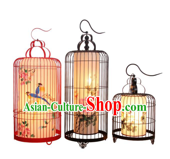 Handmade Traditional Chinese Ancient Palace Lantern Ceiling Lanterns Hanging Birdcage Lanern