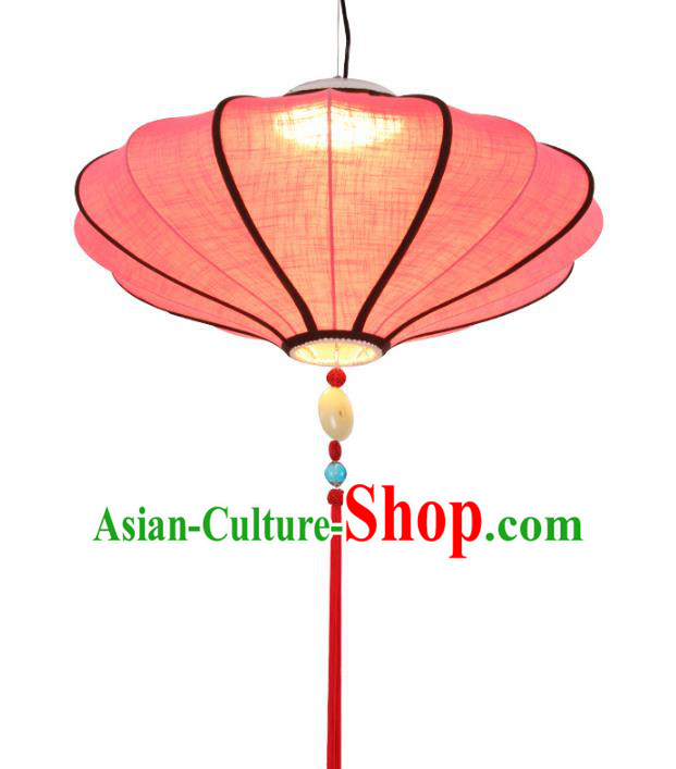 Traditional Chinese Ancient Palace Lantern Red Linen Ceiling Lanterns Hanging Lanern