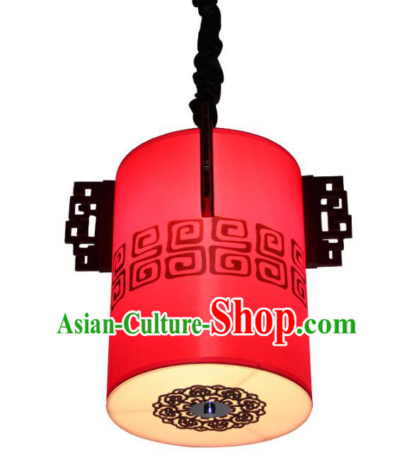 Traditional Chinese Ancient Palace Red Lantern Sheepskin Ceiling Lanterns Hanging Lanern