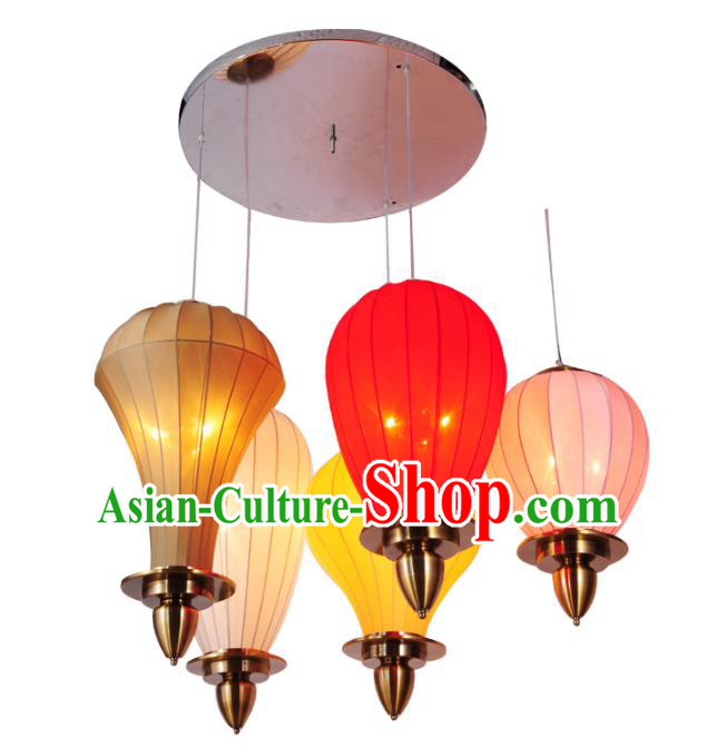 Traditional Chinese Ancient Palace Lantern Colorful Ceiling Lanterns Hanging Lanern