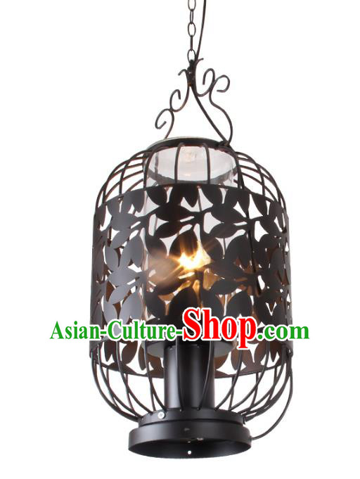 Traditional Chinese Ancient Palace Lantern Iron Ceiling Lanterns Hanging Lanern