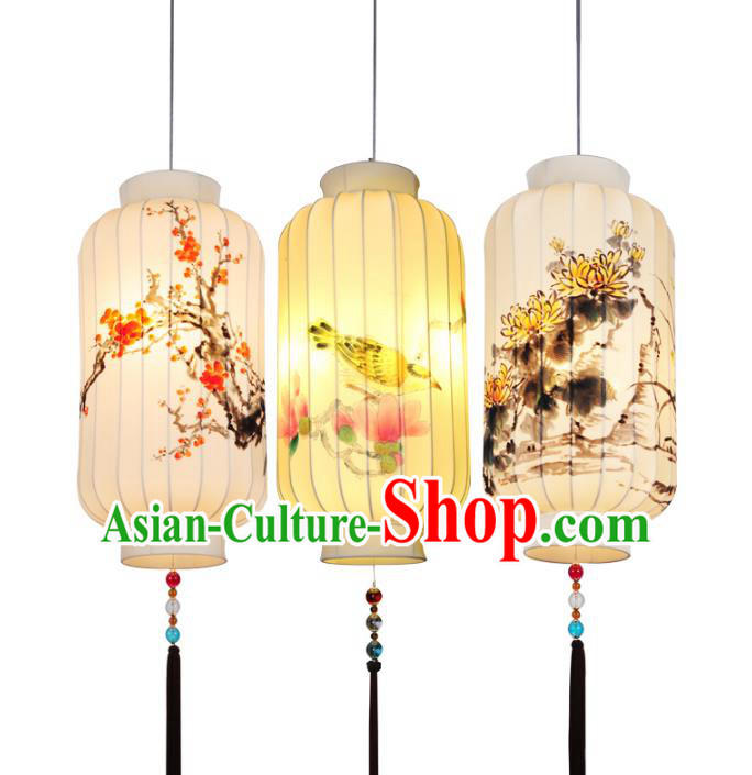 Traditional Chinese Ancient Palace Lantern Hand Painting Ceiling Lanterns Hanging Lanern