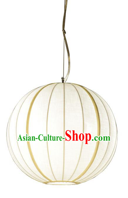 Traditional Chinese Ancient Palace Lantern Ceiling Lamp Round Lanern
