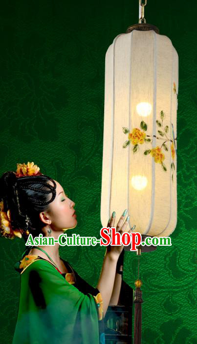 Traditional Chinese Ancient Palace Lantern Ceiling Lamp Hand Painting Lanern