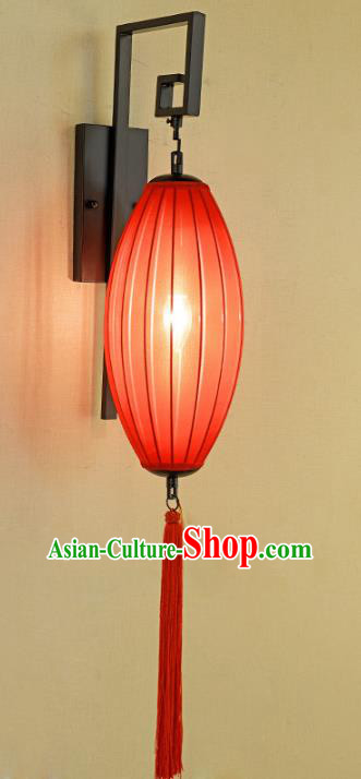 Handmade Traditional Chinese Lantern Red Wall Lamp Electric Palace Lantern