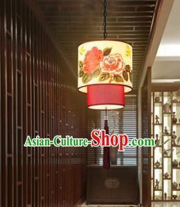 Asian China Traditional Handmade Lantern Peony Flowers Ceiling Lamp Ancient Palace Lanern
