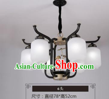 Asian China Traditional Handmade Lantern Six-Pieces Ceiling Lamp Ancient Palace Lanern