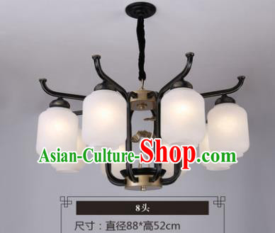 Asian China Traditional Handmade Lantern Eight-Pieces Ceiling Lamp Ancient Palace Lanern