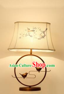 Traditional Asian Chinese Lantern China Ancient Birds Flowers Electric Desk Lamp Palace Lantern