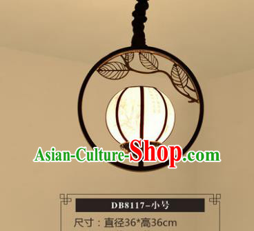Asian China Traditional Handmade Lantern Round Ceiling Lamp Ancient Palace Lanern