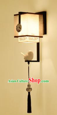 Handmade Traditional Chinese Lantern China Style Wall Lamp Black Frame Electric Palace Lantern