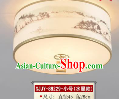Asian China Traditional Handmade Lantern Ink Painting Ceiling Lamp Ancient Palace Lanern