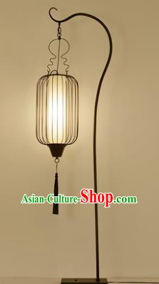 Traditional Asian Chinese Lantern China Ancient Electric Iron Floor Lamp Palace Lantern