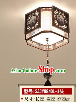 Asian China Traditional Handmade Lantern Painting Ceiling Lamp Ancient Palace Lanern