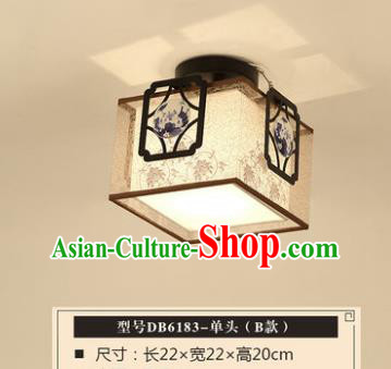 Traditional Chinese Handmade Lantern Classical Square Ceiling Lamp Ancient Lanern