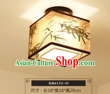 Traditional Chinese Handmade Lantern Classical Printing Bamboo Ceiling Lamp Ancient Lanern