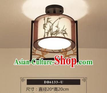 Traditional Chinese Handmade Lantern Classical Printing Bamboo Leaf Ceiling Lamp Ancient Lanern