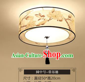 Traditional Chinese Handmade Lantern Classical Magnolia Round Ceiling Lamp Ancient Lanern