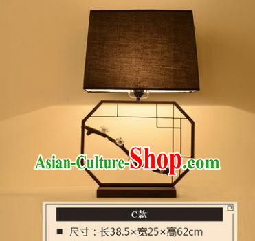 Handmade Traditional Chinese Lantern China Style Wintersweet Screen Desk Lamp Electric Palace Lantern