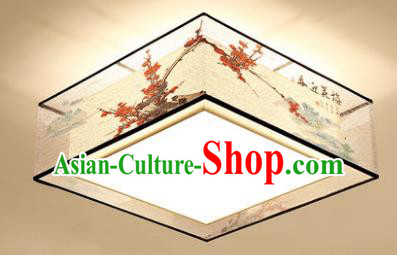 Traditional Chinese Handmade Printing Wintersweet Lantern Classical Lamp Ancient Palace Ceiling Lanern