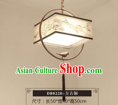 Asian China Traditional Handmade Bronze Lantern Classical Hanging Lamp Ancient Palace Ceiling Lanern