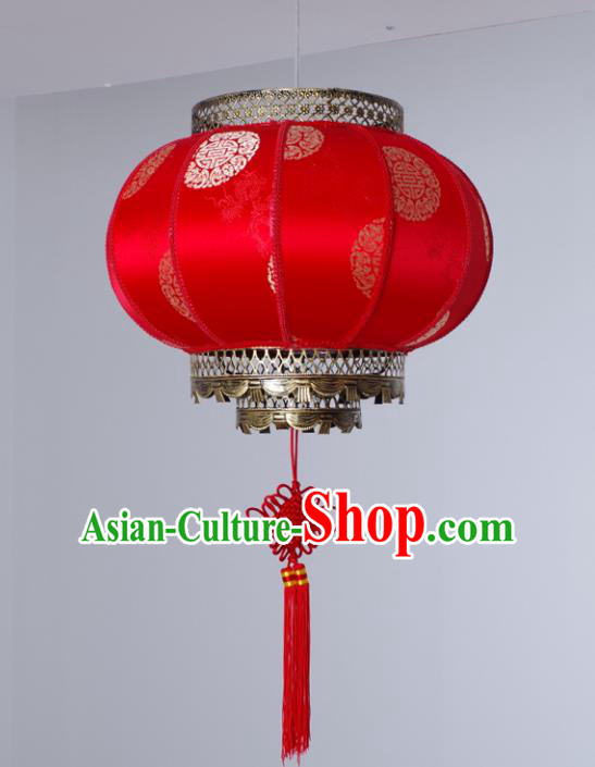 Asian China Traditional Handmade Lantern New Year Red Parchment Lanterns Ceiling Lamp Ancient Palace Lanern