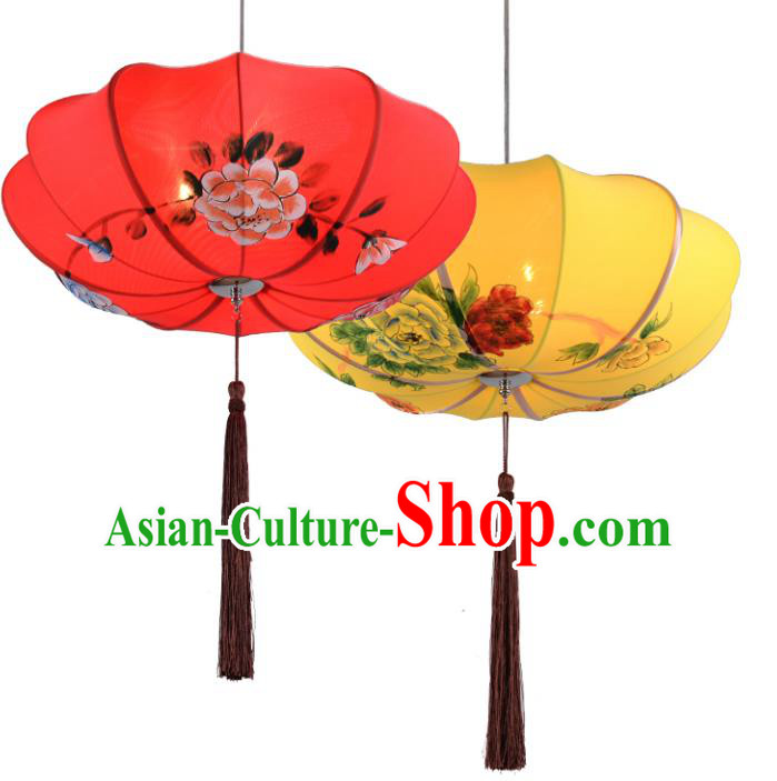 Asian China Traditional Handmade Lantern Spring Festival Lanterns Ceiling Lamp Ancient Palace Lanern