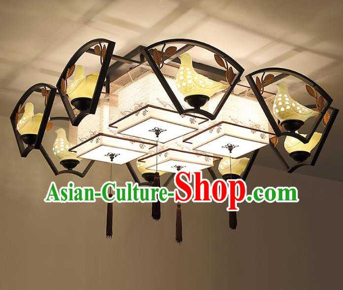 Traditional China Handmade Pigeon Lantern Ancient Lanterns Palace Ceiling Lamp