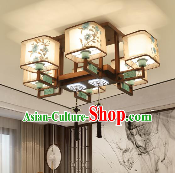 Traditional China Handmade Lantern Ancient Six-pieces Lanterns Palace Ceiling Lamp