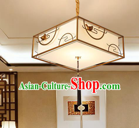 Traditional China Handmade Lantern Ancient  Square Hanging Lanterns Palace Ceiling Lamp