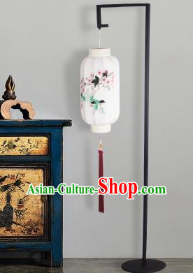Traditional Asian Chinese Lanterns China Ancient Floor Lamp Printing Birds Palace Lantern