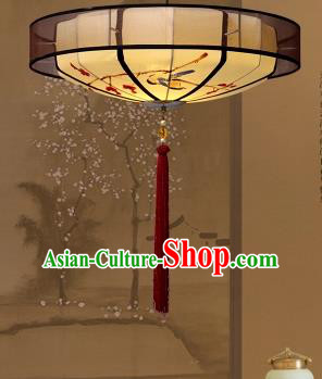 Traditional China Handmade Lantern Ancient Printing Parchment Hanging Lanterns Palace Ceiling Lamp