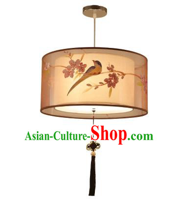 Traditional China Handmade Lantern Ancient Hanging Lanterns Flowers Birds Palace Ceiling Lamp