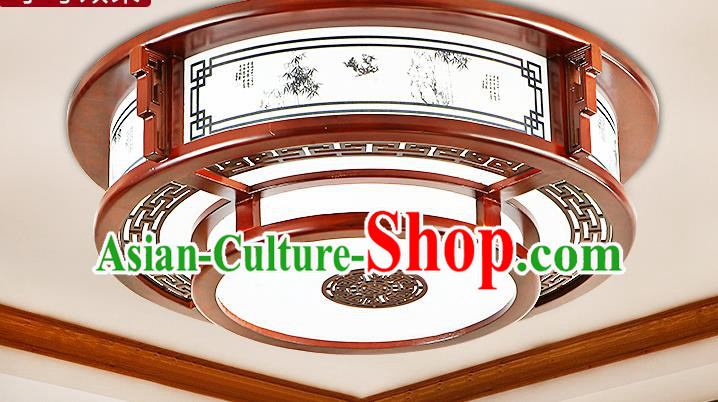 China Traditional Handmade Ancient Printing Bamboo Wood Lantern Palace Lanterns Ceiling Lamp