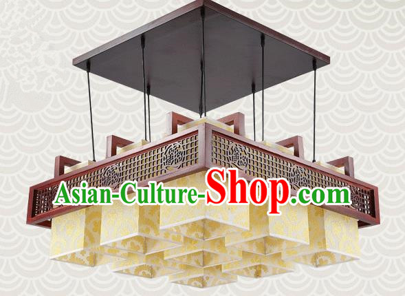 China Traditional Handmade Lantern Ancient Lanterns Palace Nine-pieces Ceiling Lamp