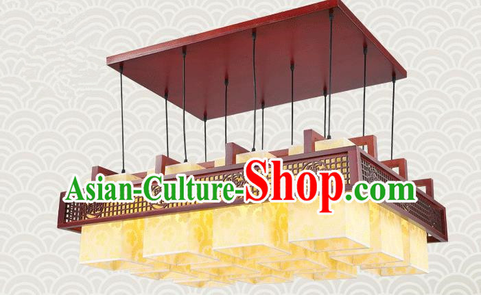 China Traditional Handmade Lantern Ancient Lanterns Palace Twelve-pieces Ceiling Lamp