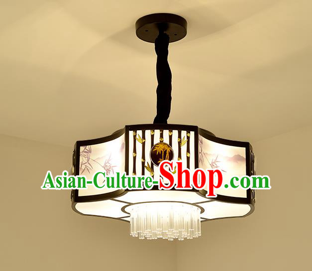 Traditional China Handmade Lantern Ancient Iron Hanging Lanterns Palace Ceiling Lamp
